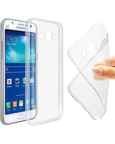 JM Transparent Soft Ultra Slim Back Cover Case Samsung Galaxy On7 Pro
