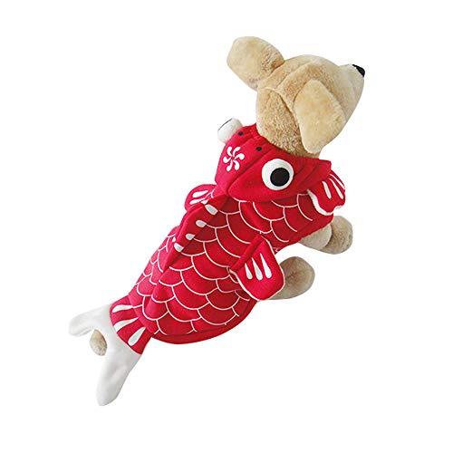 Kostüm Dackel Schwein - Amakunft Lustiges Goldfisch-Kostüm, Halloween-Haustier-Kostüm, Katzen-Outfits mit Hut, Winter-Kapuzenjacke, Mantel für Weihnachten und Party