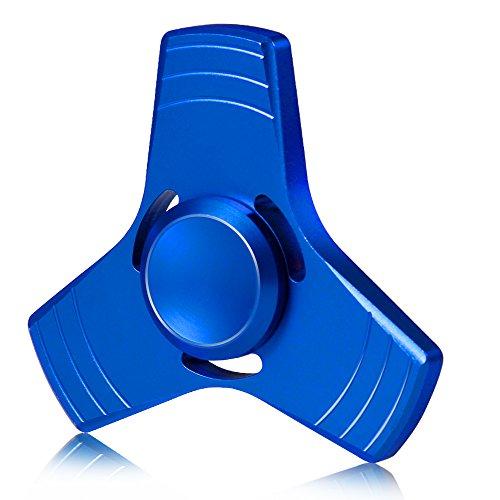 Mture Fidget Toy Hand Spinner,Tri Fidget Mano Dito Spinner,Spin Widget Focus Giocattolo Ansia Stress Noia Passatempo per Ragazzi ed Adulti-Blu