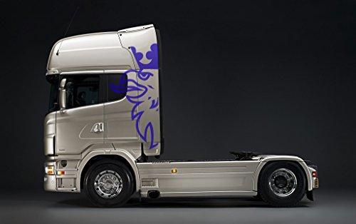 Preisvergleich Produktbild Scania Truck Große Aufkleber - 5 Farben - 190cm x 90cm (Blau)