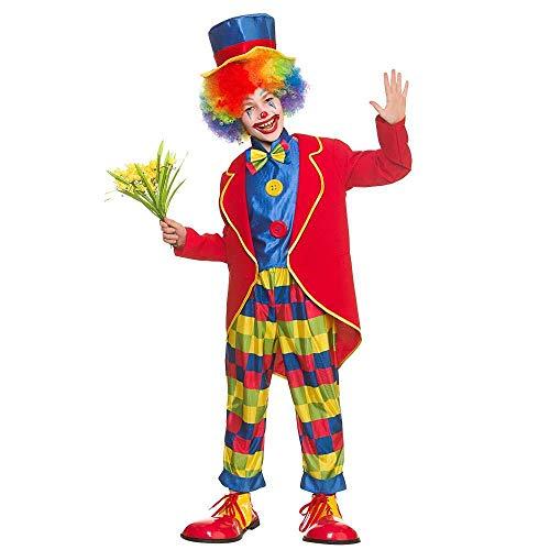 Costume de déguisement drôle de clown de cirque de garçons (Taille Grand 8-10 ans)