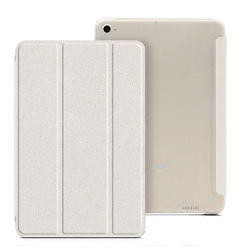 PREVOA ® 丨Flip PU Hülle Cover Case Schutzhülle Tasche für Xiaomi Mi Pad 3 - (Weiß)