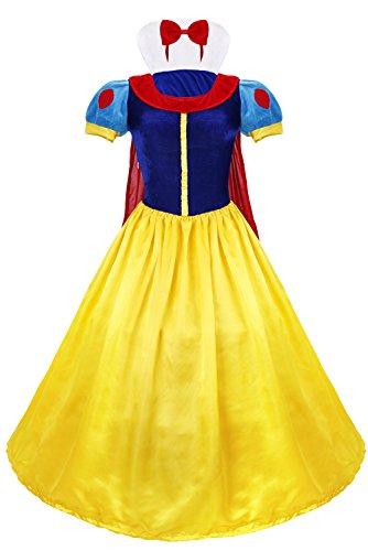 iEFiEL Damen Sexy Märchen Prinzessin Kostüm Kleid Kostüm für Erwachsenen, Karnevalskostüme Faschingskostüm Themenpartys Faschingskostüme L
