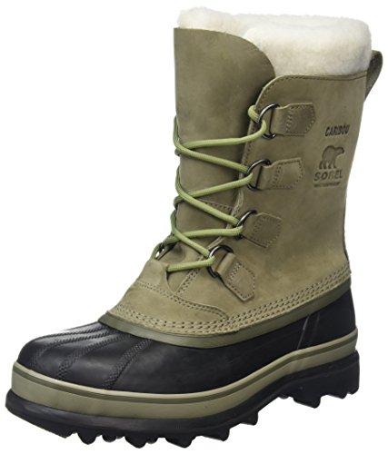 Sorel Caribou, Botas de Nieve Para Hombre, Verde (Sage/Black), 43 EU
