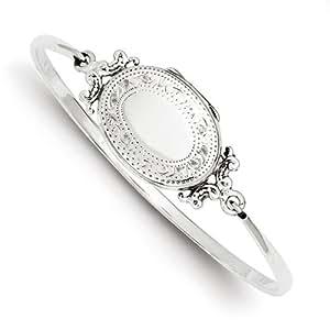 Sterling Silber 20mm Medaillon Armreif Armband
