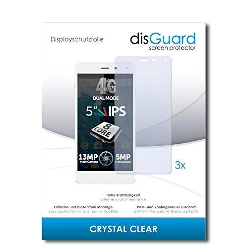 disGuard® Bildschirmschutzfolie [Crystal Clear] kompatibel mit Allview E4 Lite [3 Stück] Kristallklar, Transparent, Unsichtbar, Extrem Kratzfest, Anti-Fingerabdruck - Panzerglas Folie, Schutzfolie