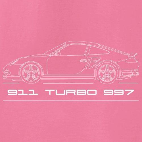 Seitenansicht Porsche 911 Turbo 997 (2006 - 2012) - Unisex Pullover/Sweatshirt - 8 Farben Rosa