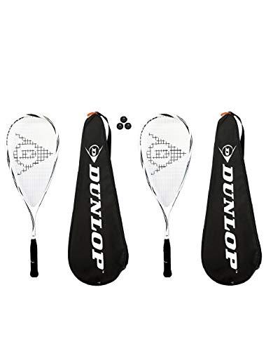 Dunlop Max Lite 2x Squashschläger nach Wahl 3 x Squashbälle UVP Titan