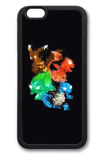 Coque silicone BUMPER souple IPHONE 6/6s - GO pokemon pikachu team CASE tpu DESIGN + Film de protection INCLUS 3
