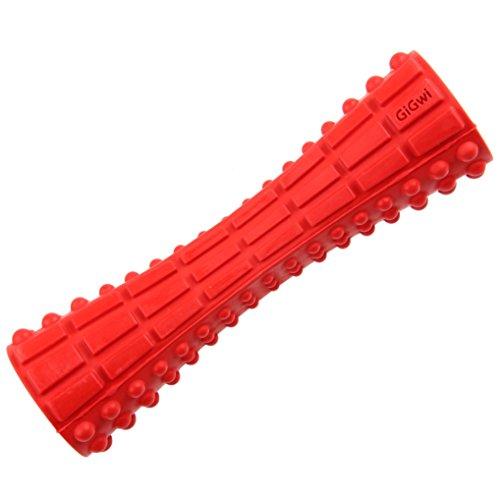 GiGwi 6188 Robustes Hundespielzeug Johnny Stick aus Hartgummi, Kauspielzeug / Apportierspielzeug, rot