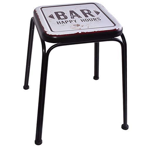 Hocker Sitz Möbel Stuhl Bar Aufdruck schwarz Wohn ESS Zimmer 77016 ()