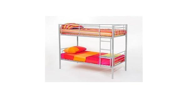 Etagenbett Trennbar : Leylina etagenbett trennbar aus metall farbe grau mit lattenrost