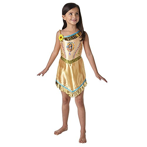 Fairtytale Pocahontas - Disney Princess - Bambini Costume - Medium - 116 centimetri - Età 5-6