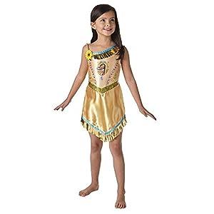Rubies Vestido de lujo oficial de Pocahontas-Disfraz-Disfraz de princesa Disney libro de cuento de hadas