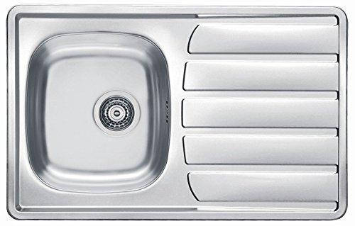 Alveus Einbauspüle Leinenstruktur 790x500mm Edelstahl Spüle Zoom 20 Küchenspüle *1099285
