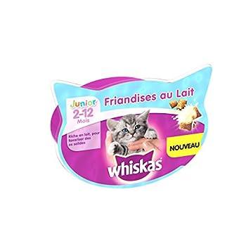Whiskas Friandises au Lait pour Chaton 55 g 8 Boîtes - Lot de 2