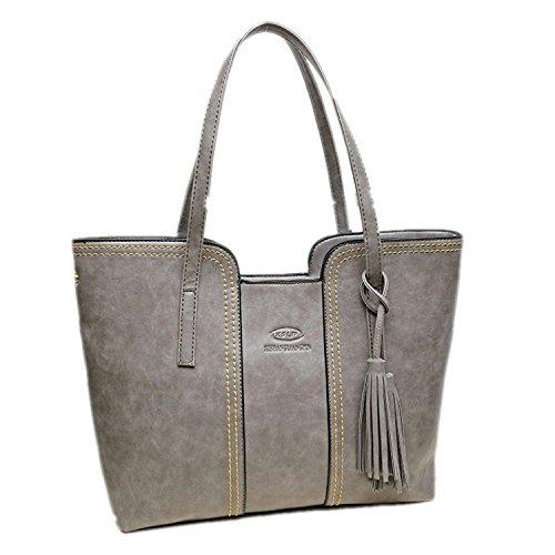 bagoddess Fashion de nosotros Retro PU Funda de cuero elegante de bolsa de la compra (tamaño grande mujer bolso, color, talla talla única