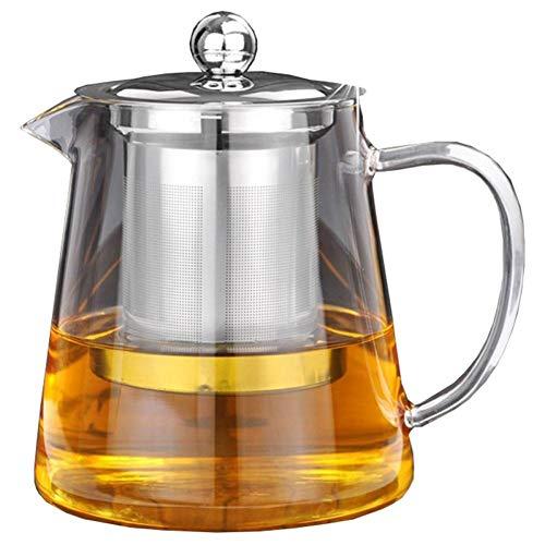 DGUOHAC Teekanne Klare Borosilikatglas Teekanne Mit Edelstahl Infuser Sieb Hitze Kaffee Tee Topf Werkzeug Kessel Satz (Kaffee-tee-topf-satz)