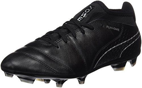 Puma Herren ONE 17.2 FG Fußballschuhe, Schwarz Black-Silver, 42 EU