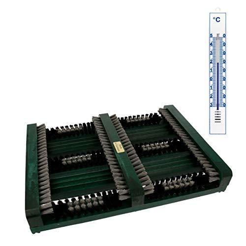 Lantelme Lantelme Fussabtreter Holz Seitenleisten Hauseingang Thermometer Set Schuhabtreter Schuhputzer Schuhabstreifer 3817