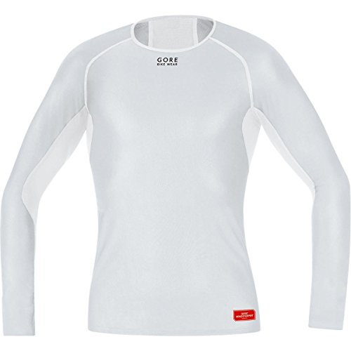 GORE BIKE WEAR Base Layer Windstopper Manga Larga - Camiseta de ciclismo para hombre, color gris, talla M