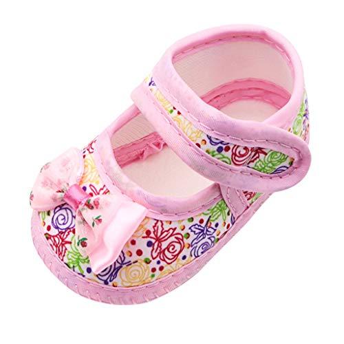 AIni Schuhe Baby,Mode Beiläufiges Neugeborene Baby Mädchen, die Bogen Schmetterlings Prewalker Weiche alleinige Einzelne Sandalen Drucken Lauflernschuhe Kleinkinder Schuhe Krabbelschuhe (13,Rosa) (Baby-mädchen Neugeborenen-nike Schuhe)