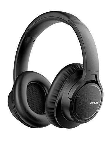 pfhörer Over Ear, Kabellose Kopfhörer mit 18 Stunden Spielzeit, CSR-Chip, CVC 6.0 Noise Canceling Mikrofon Freisprechen, Memory-Protein Ohrpolster für Handy/Tablets, Schwarz ()