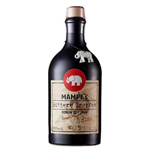 Mampe Bittere Tropfen | Kräftiger Magenbitter nach Rezept von 1831 | Berlins älteste Spirituosenmanufaktur - Tradition seit mehr als 160 Jahren | 1 x 0.5 Liter | 45% Vol.