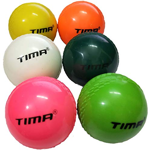 Tima Set of 12 Pcs Cricket Wind Balls Hard Practice Beach Indoor Outdoor Windball