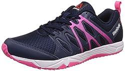 Reebok Womens Arcade Runner Coll Navy, Pink, Black and White Running Shoes - 4 UK/India (37 EU)(6.5 US)