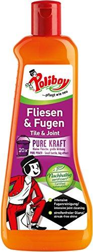Poliboy - Boden - Fliesen- und Fugen Konzentrat - Fliesenreiniger & Fugenreiniger - Einzeln - 500ml - Made in Germany (Boden-reinigungsmittel Fliesen)