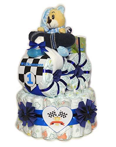 Pañales para tartas con moto-Rallye-Pañales Moto-Rally-Azul