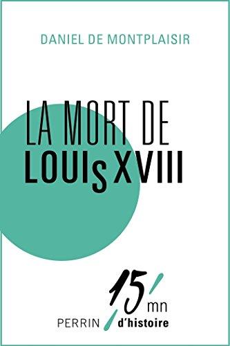 La mort de Louis XVIII