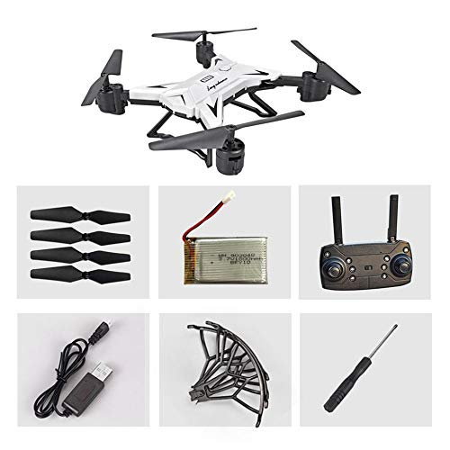 KY601S profesional 4 canales de larga duración brazo plegable Control remoto Quadcopter cámara Drone Aircraft-White-1 tamaño