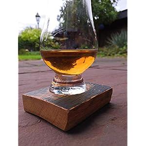 Glasuntersetzer aus altem Single Malt Whiskyfass Glencairn Whiskyfass Whiskyglas Daube Eiche