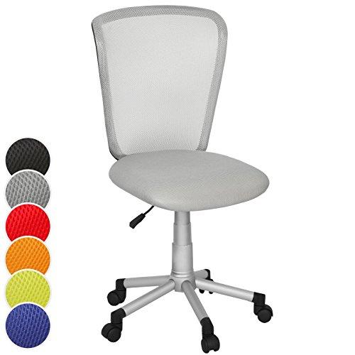 Infantastic Komfortabler Kinderstuhl Bürostuhl Kinderdrehstuhl in 6 unterschiedlichen Farben (Grau)