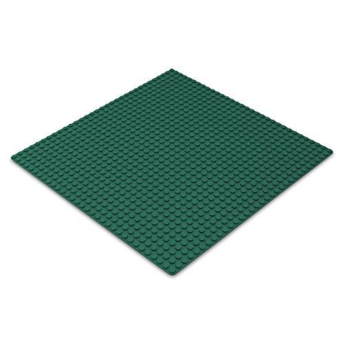 Katara 1672 - Placa de Construcción 25,5x25,5cm - Base Compatible con Lego, Sluban, Papimax, Q-Bricks, Verde Oscuro
