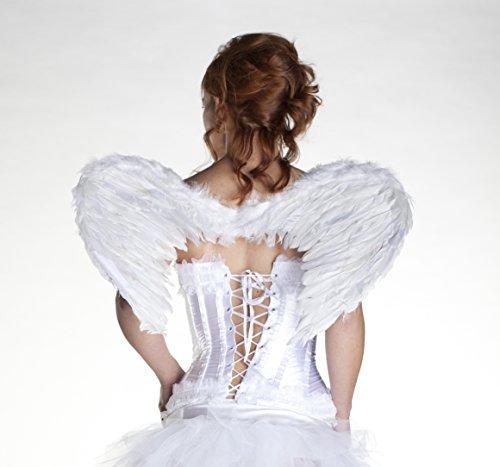 Wunderschöne WEISSE FLÜGEL 60 x 40 cm EXTRA GROSS, Marke: colorama (Extra Große Kostüm Engel Flügel)