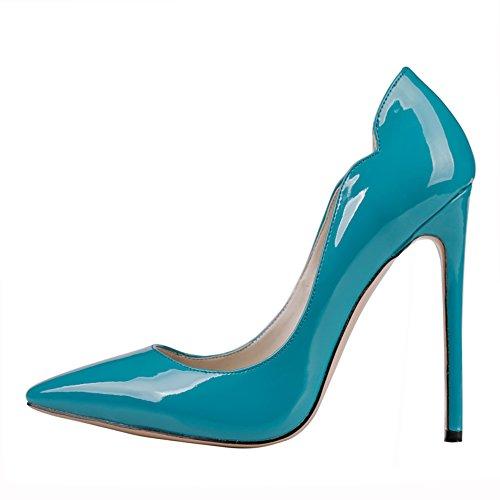MERUMOTE - Tacco a spillo Donna Blu (Blau-Lackleder)