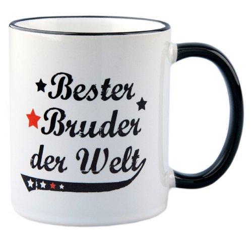 Tasse Bester Bruder der Welt Vintage Style - Geschenk