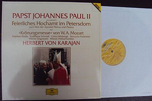 Papst Johannes Paul II zelebriert Feierliches Hochamt im Petersdom zum Fest der Apostel Petrus und Paulus mit Mozart Messe C dur KV 317 Krönungsmesse. Herbert von Karajan. Digital Stereo