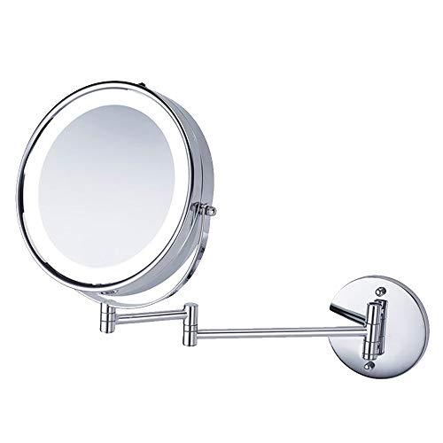 Wig girl Espejo de Afeitado para el baño con Espejo Normal y de 5 aumentos de Doble Cara Muro de Espejo...