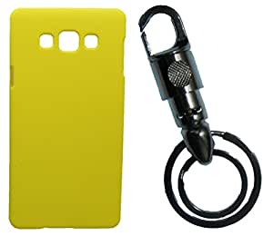Toppings Hard Case Cover With Matallic KeyChain For Samsung Galaxy E7 - Yellow