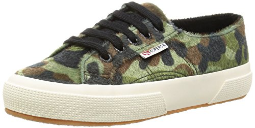 Superga - 2750 Synthorsecamow, Sneaker Donna GREEN