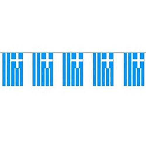 Preisvergleich Produktbild DeCoArt... Fahnenkette Griechenland 5 m lang Fahnengirlande