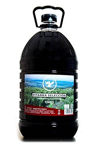 vino de pitarra de Extremadura, elaborado de forma tradicional, Viñedos: Esparragosa de la Serena. Recolección: Seleccionada. Fermentación: Controlada. se aconseja servir en temperatura de entre 16 y 18 grados 13 grados de alcohol