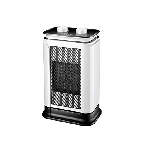 Radiateurs électriques CJC 1500W Mini PTC Céramique Ventilateur Automatique Oscillation 2 Chaleur Réglages du Froid Air Blanc