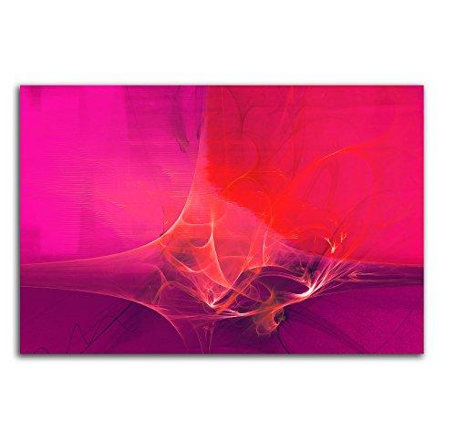 60x80cm Abstrakt028_Leinwandbild knallig pink fuchsia brombeer Abstrakte Kunst Kunstdruck auf Leinwand zeitloses Wohnambiente TOP moderne...
