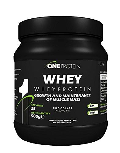 Whey integratore alimentare a base di proteine del siero del latte concentrate mediante ultrafiltrazione gusto cioccolato fragola 500 g