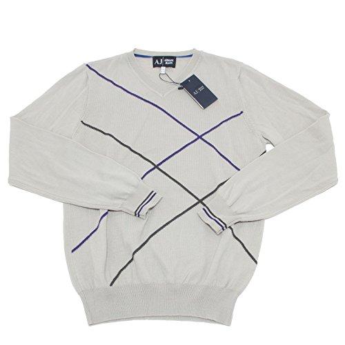 9471M maglione uomo ARMANI JEANS lana grigio sweater men [M]
